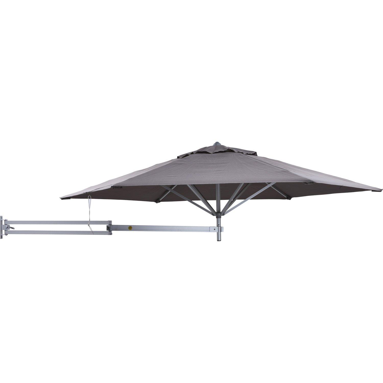 Easysol Parasol Wall-Mounted Aluminium Dark Grey 250 cm easysol-grijs