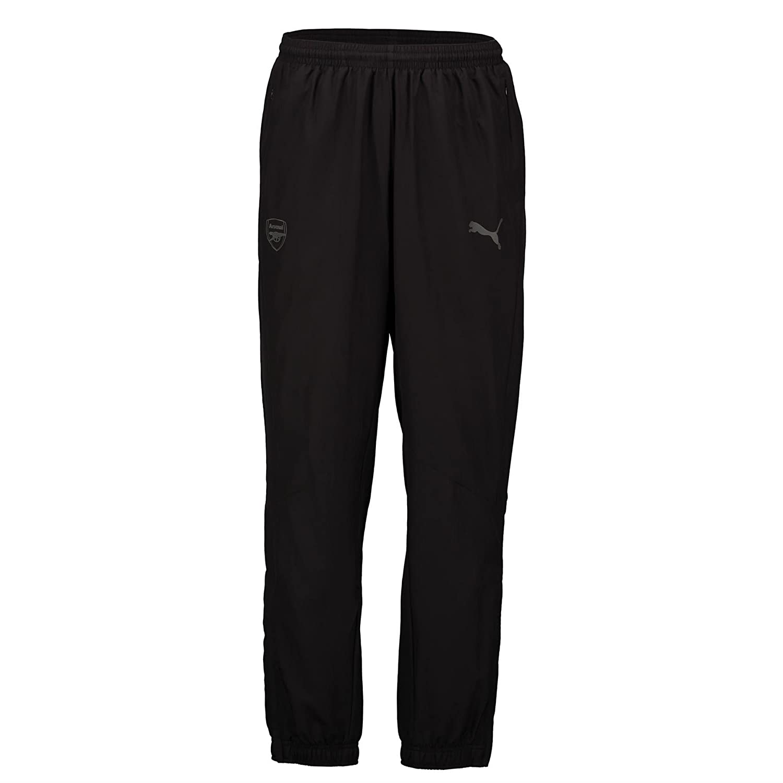 2017-2018 Arsenal Puma Casual Performance Woven Pants (Black) B0741BSHV5Black Large Adults