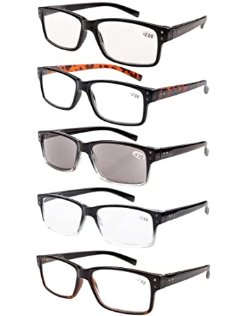 249bc5c1fad Eyekepper 5-Pack Spring Hinges Vintage Reading Glasses Men Includes  Sunshine Readers