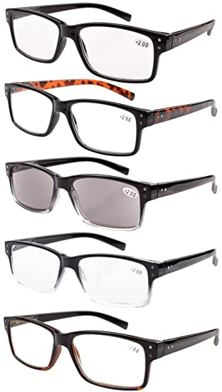 c06093aa4f37 Eyekepper 5-pack Spring Hinges Vintage Reading Glasses Men Includes Sun  Readers +1.50  Amazon.co.uk  Health   Personal Care