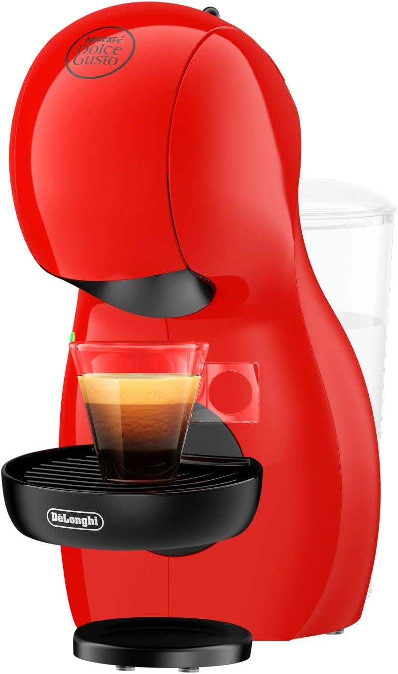 DeLonghi Dolce Gusto Piccolo XS EDG210.R - Cafetera de cápsulas, 15 bares de presión, diseño compacto, color rojo: Amazon.es: Hogar