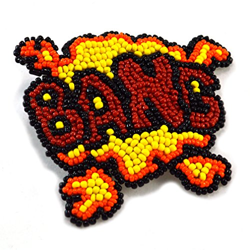 [Comic Book Costume Hair Clip Bang Nerd Geek Inspired Pop Art Accessory Beaded in Red Orange and Yellow for] (Pop Art Inspired Costumes)