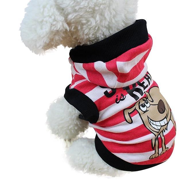 Ropa Mascotas, ❤ Zolimx Sudadera con Capucha Para Pequeño Perros Accesorios Ropa Perritos Caliente Jerseys Chaleco Camisetas Suéter Para Mascotas Perros ...