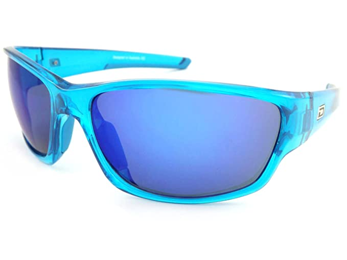 cf421a91fe9 Dirty Dog Chain Sunglasses Crystal Blue with Ice Blue Mirror Lenses 58072   Amazon.co.uk  Clothing