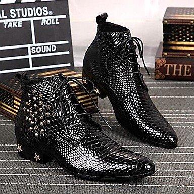 cc0b0771b06 Love   zapatos hombres zapatos de Amir 2016 Pure Manual limitada serpiente  líneas boda oficina Fiesta de vacuno piel moda botas negro