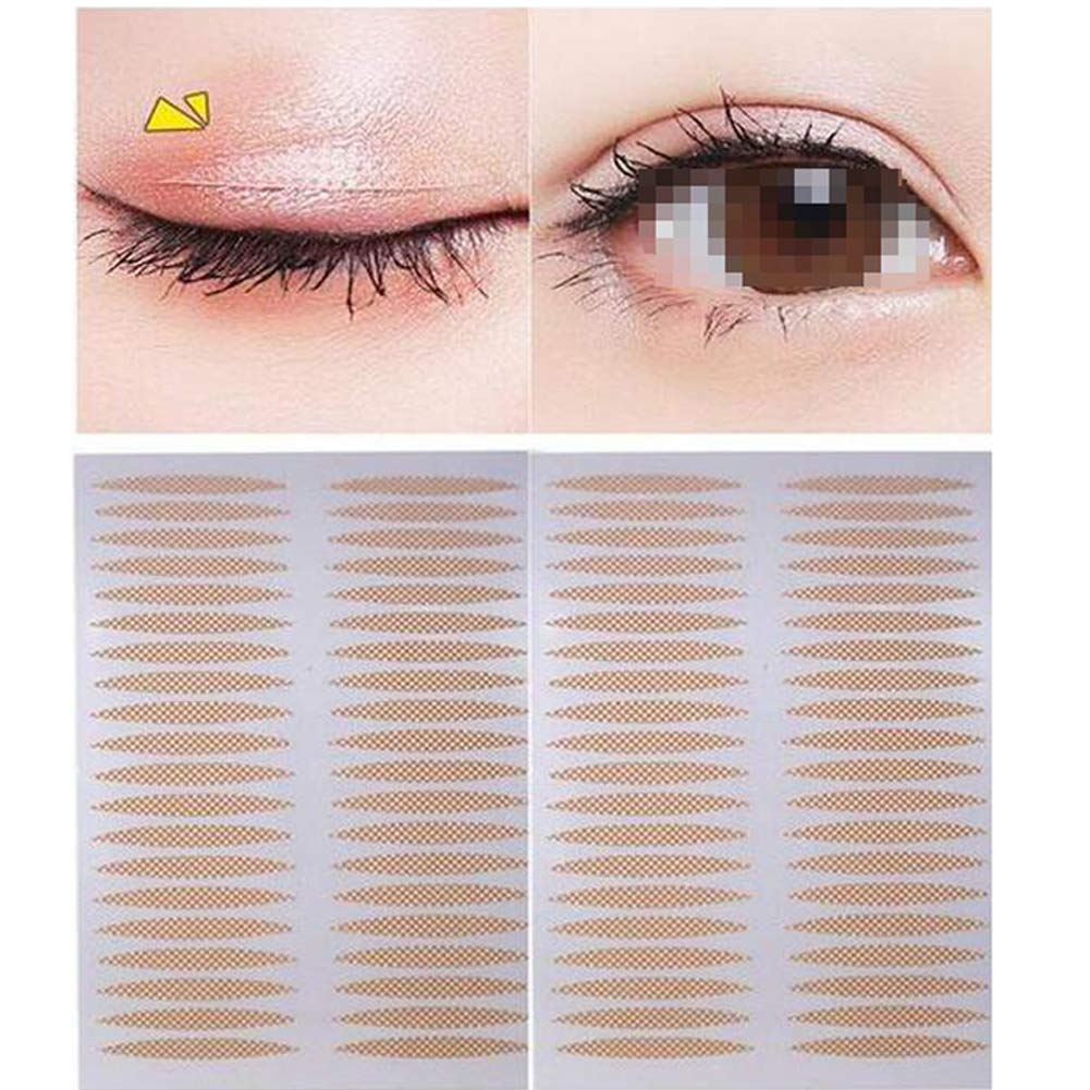 800 PCS Skin Color Lace Mesh Olive Type Makeup Eyelid Paste Beauty Big Eye Decoration Natural Invisible Seamless Waterproof Super Sticky Lasting Eyelid Sticker