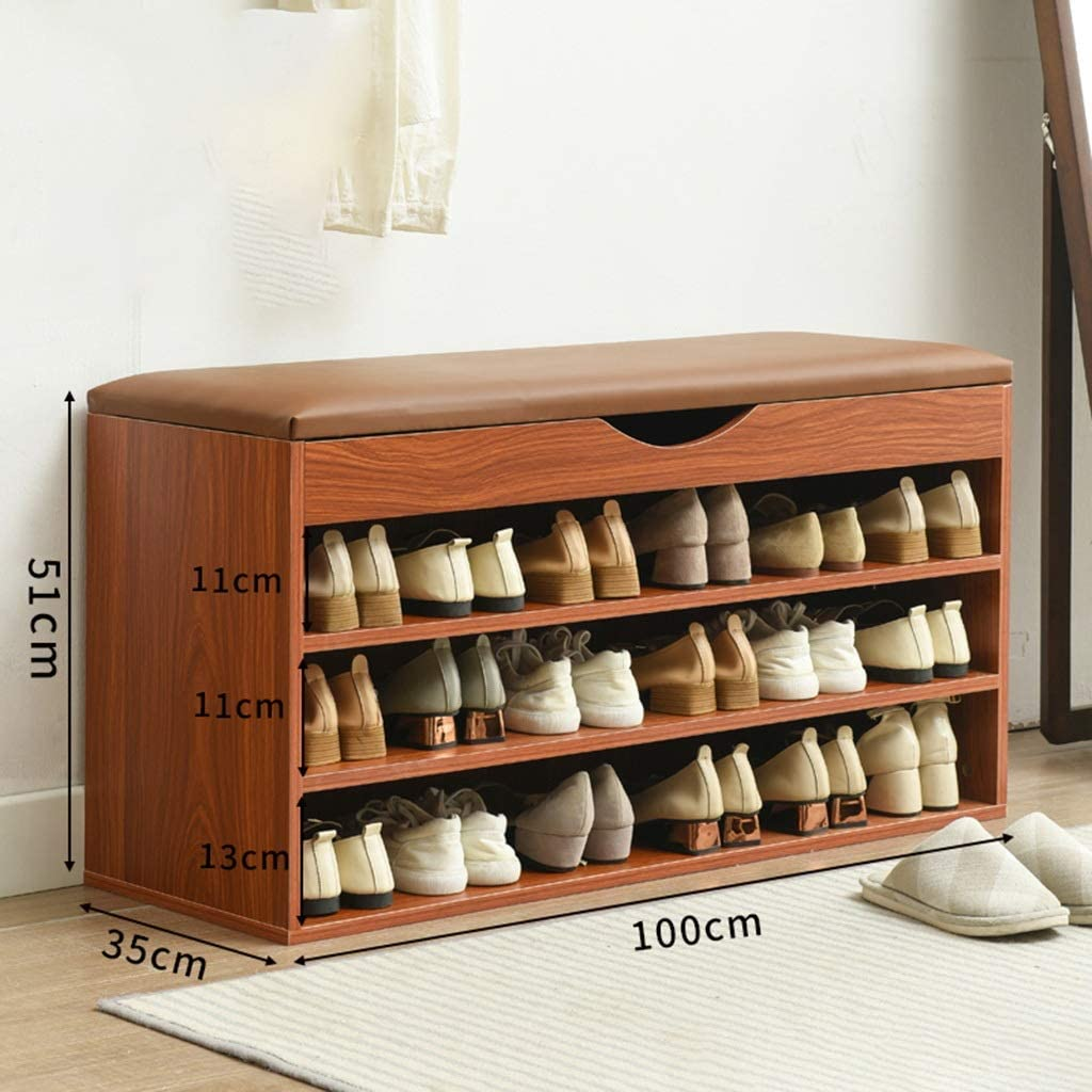 Amazon Com Joygood Storage Benches Entryway Shoe Cabinet Shoe Organizer Bench Hallway Shoe Storage Bench Entryway Bench With Shoe Storage Seat Color Brown Size 1003551cm Kitchen Dining,Diy Christmas Decorations For Your Room