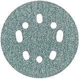 "Norton 3X 5 & 8 Hole Universal Vacuum Abrasive Fiber Disc, Fiber Backing, Hook & Loop, Aluminum Oxide, 5"" Diameter, Grit P120 (Pack of 10)"