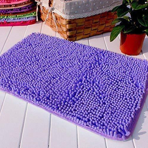 Hughapy Purple Non Slip Microfiber Carpet/Doormat / Floor mat/Bedroom / Kitchen Shaggy Area Rug Carpet (23.6