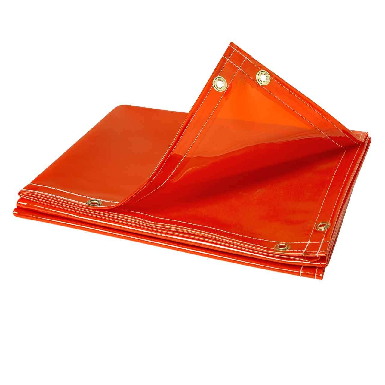 Steiner 338-6X8 ArcView 14 mm Flame Retardant Orange Tinted Transparent Vinyl Welding Curtain, 6' x 8' by Steiner