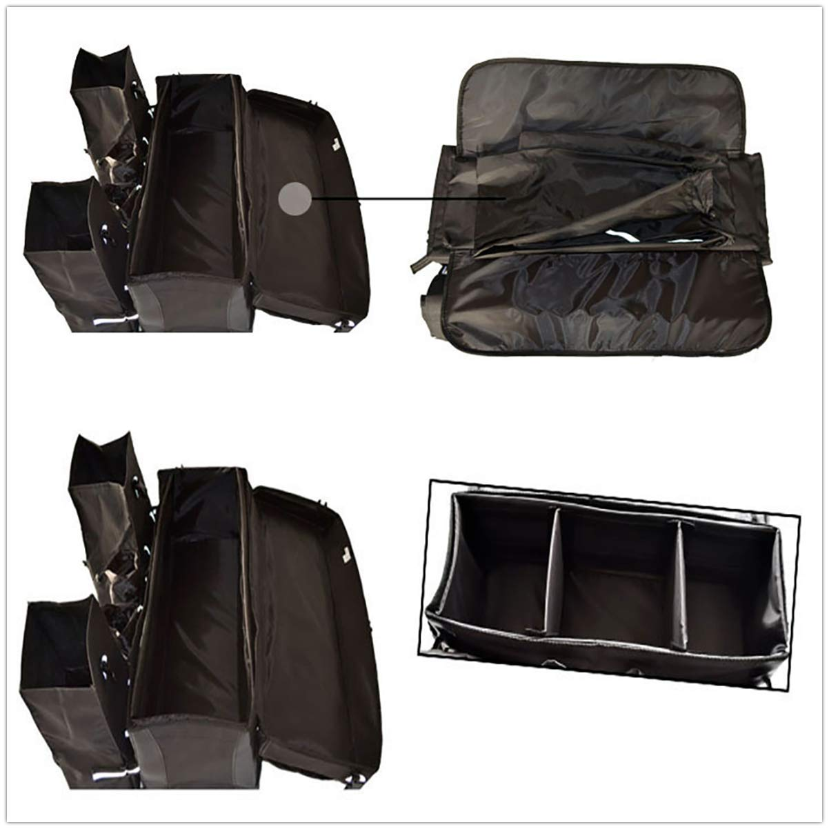Sport Tent ATV Quad Tasche Hinten wasserdichte Gep/äcktasche Universal Quad Koffer Softtasche Abnehmbare Zusatztaschen R/ücksitztasche Gep/äcktr/ägertasche Schwarz