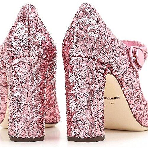 Dolce & Gabbana Heels Mary Janes in Pink Glitter - Model Number: CD0615 AE427 8B404 Pink eBr29py