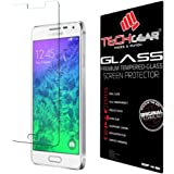TECHGEAR Screen Protector for Galaxy A5 2015 (SM-A500 Series) - GLASS Edition Genuine Tempered Glass Screen Protector Guard Cover Compatible with Samsung Galaxy A5 2015 (Not for A5 2016 or 2017)