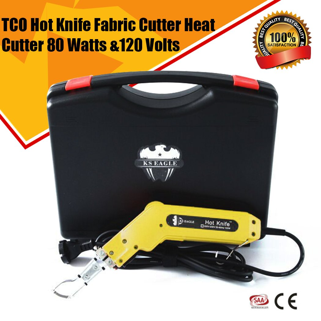 TCO Hot Knife Fabric Cutter Heat Cutter 80 Watts &120 Volts (Yellow) by TCO