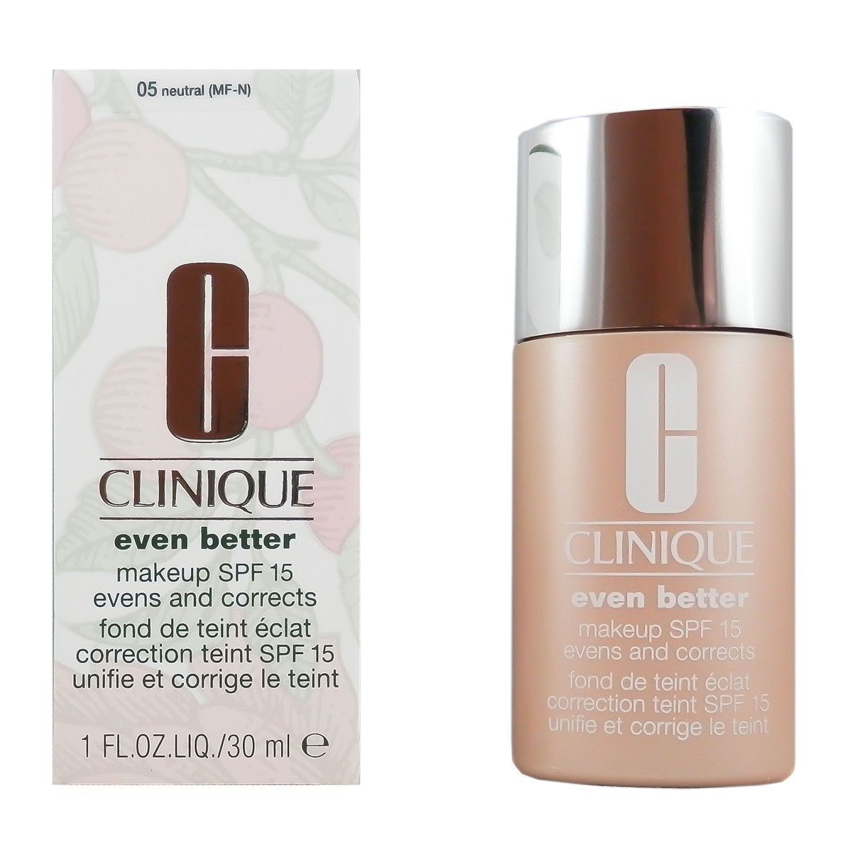 Clinique even better makeup foundation review swatches before - Amazon Com Clinique Even Better Makeup Broad Spectrum Spf15 Evens Correct Foundation 1 Ounce 05 Neutral Mf N Foundation Makeup Beauty