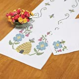 Herrschners Bumblebees Table Runner & Napkins Stamped Cross-Stitch