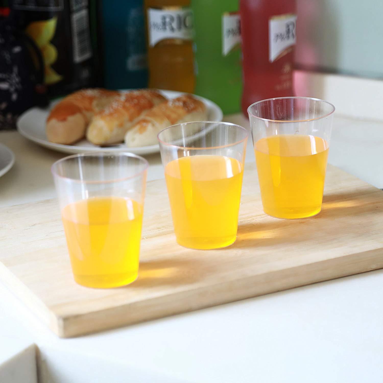bicchieri monouso di alta qualit/à per feste//matrimoni. 50/bicchieri di plastica da 0,2/l STAR-LINE/® di plastica robusta/per feste multiuso