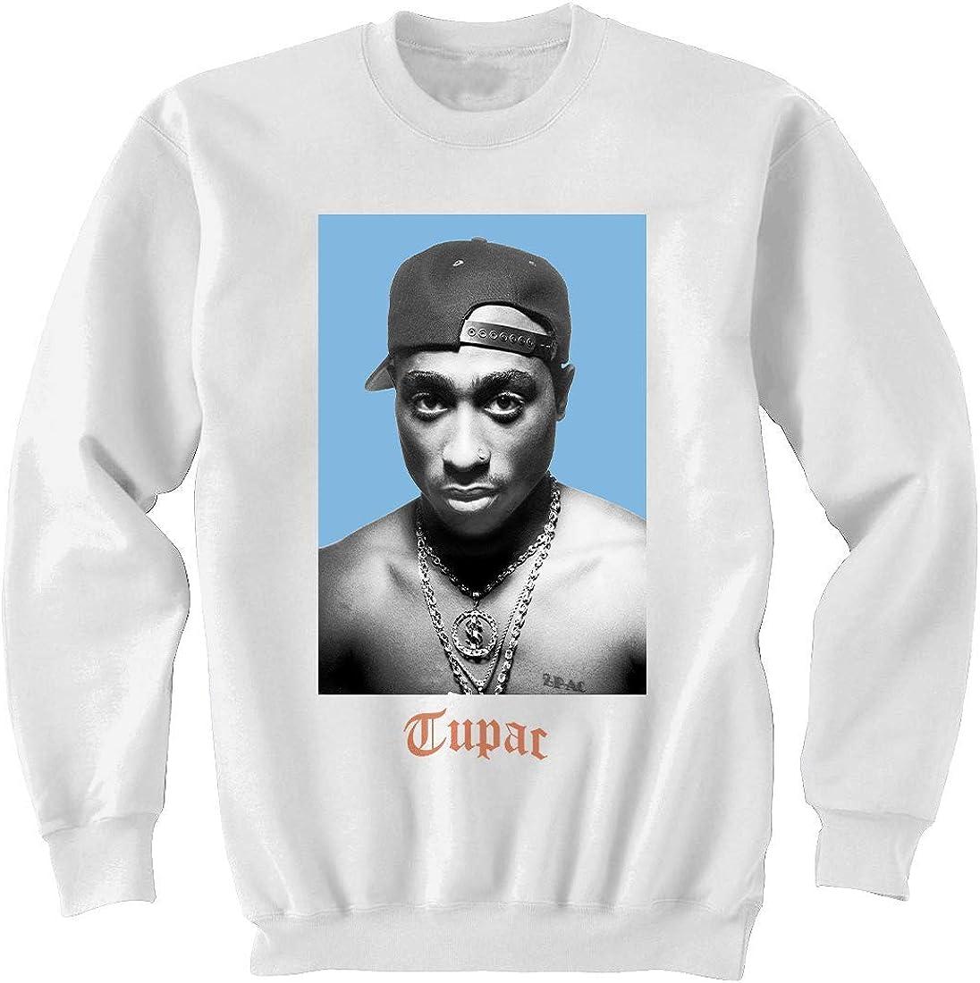 Tupac Snapback Photo Sweatshirt: Clothing