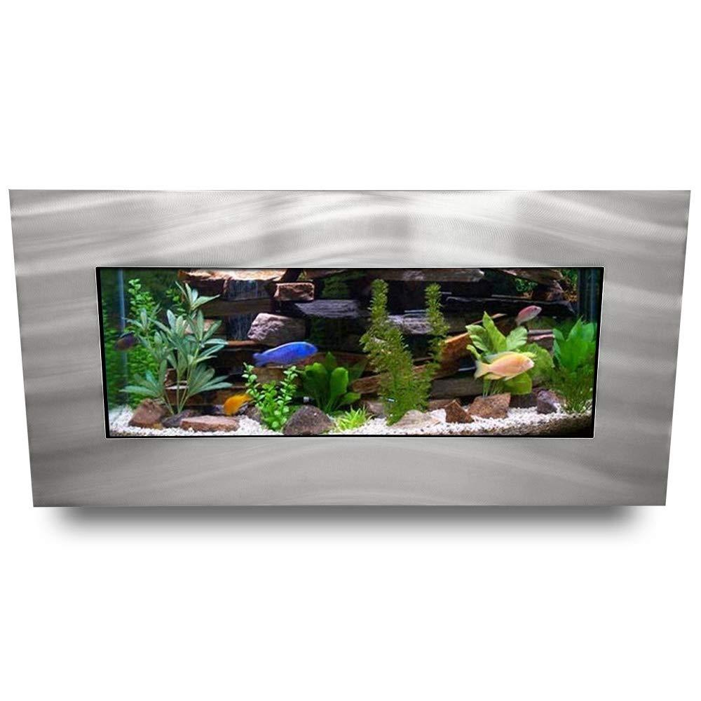 Aussie Aquariums AA-Skyline-BSILVER 2.0 Wall Mounted Aquarium, Brushed Silver by Aussie Aquariums