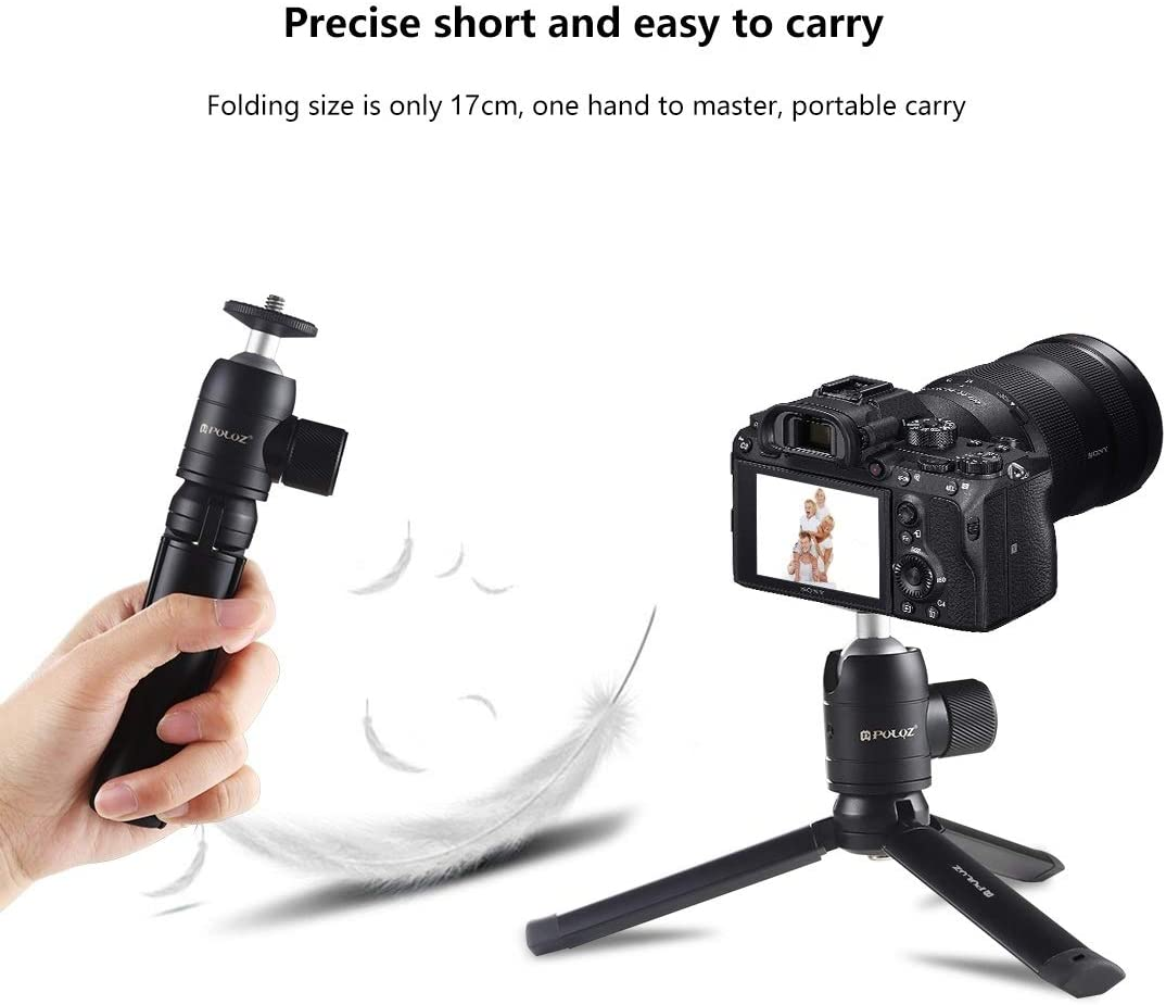 Hyx Mini Pocket Metal Desktop Tripod Mount Mini Metal Ball Head with 1//4 inch Screw for DSLR /& Digital Cameras Camera Parts Accessories