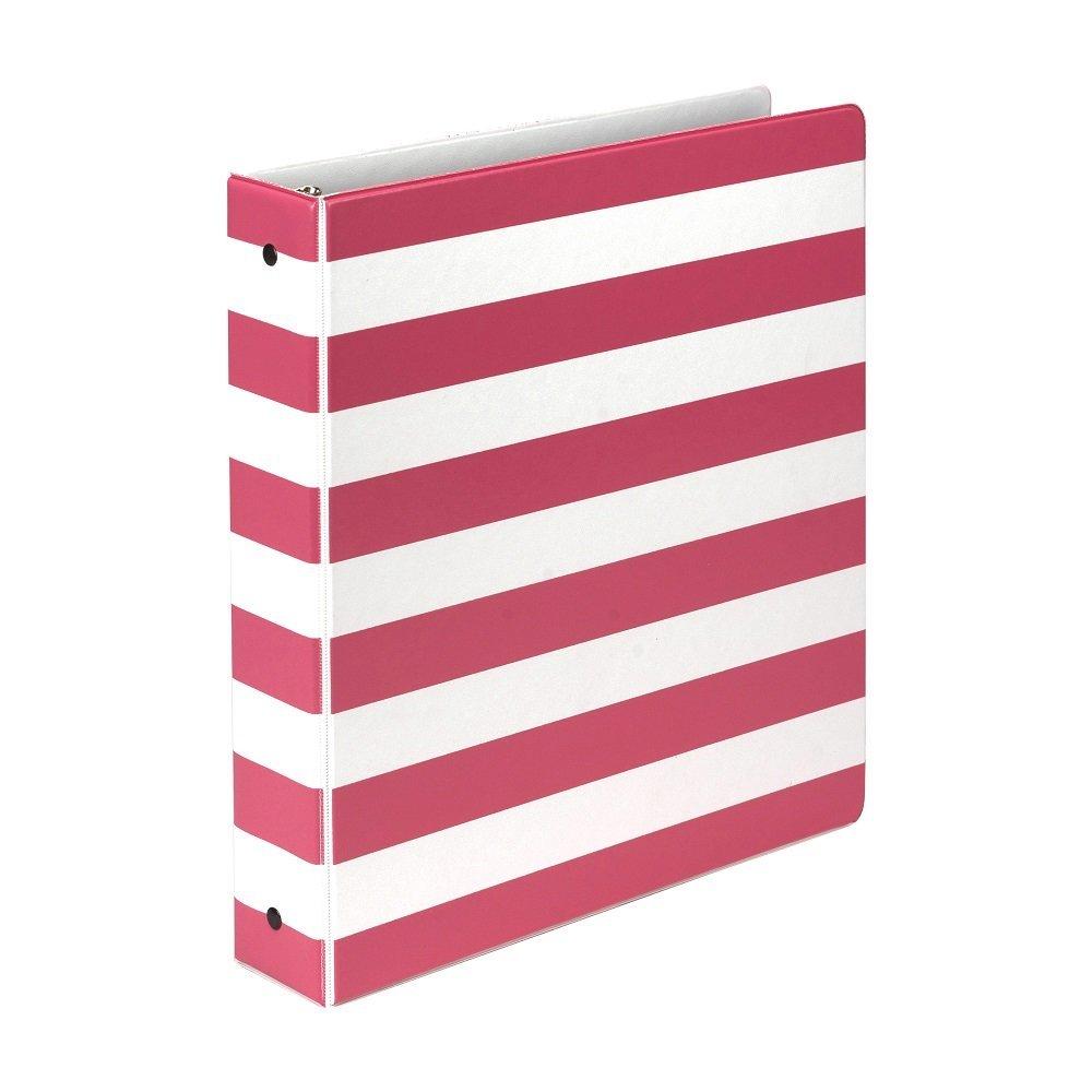 Samsill Stripes Fashion Design - Carpetas con 3 anillas, anillo ...