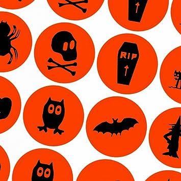 Halloween Dekoration Aufkleber Sticker 48 Stück