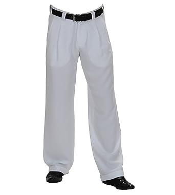 f5e9caa343e0 Hose Swing in Weiß, Bundfaltenhosen für Herren QUALITÄT, Elegante  Bundfaltenhose bei HK Mandel, 3012  Amazon.de  Bekleidung