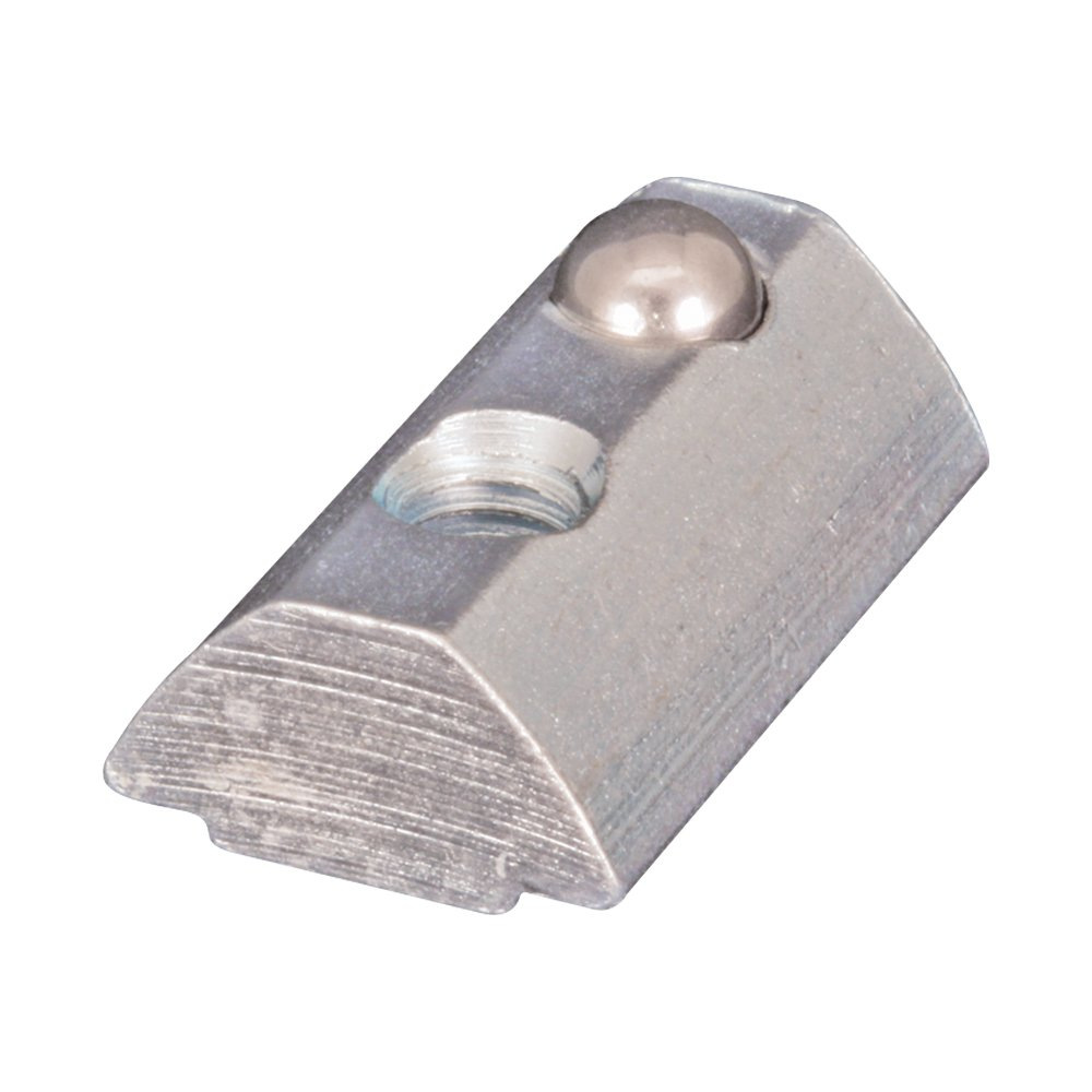 80/20 Inc., 13039, 40 Series, Self-Aligning Roll-In T-Nut with Ball Spring 10-32