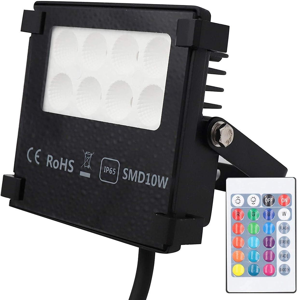 Popp - Foco LED RGB 20W Exteriores, Impermeable IP65 resistente al ...