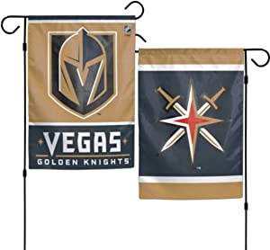 WinCraft NHL Vegas Golden Knights 12x18 Garden Style 2 Sided Flag, One Size, Team Color