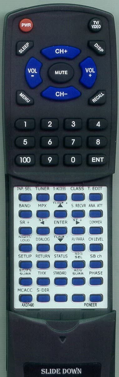 VSX91TXH Replacement Remote Control for Pioneer AXD7490
