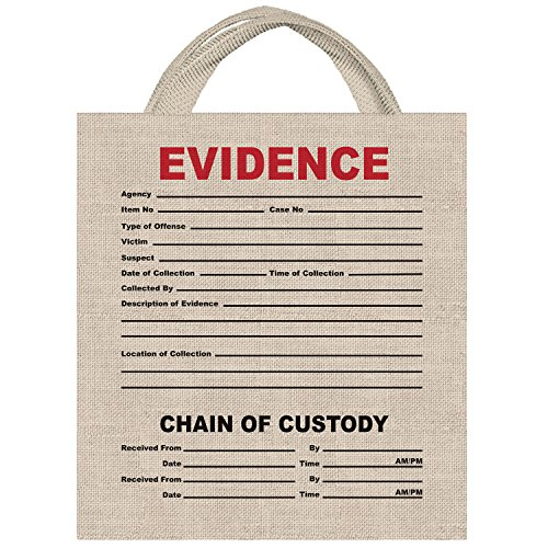 Amscan 370426 Evidence Trick-Or-Treat Bag, Multicolor -