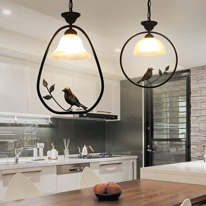Amazon.com: Dios intermitente LED pájaro lámpara colgante de ...