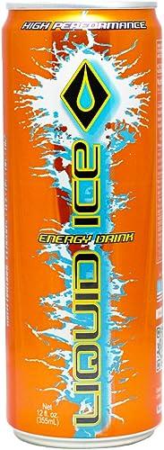 Liquid Ice Energy Drink Orange, 12 Oz, 24Count