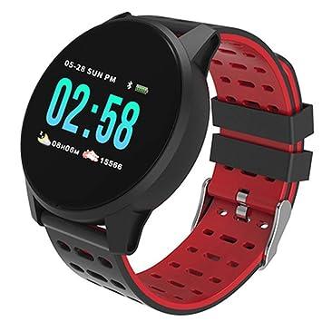 LETAMG Monitores de actividad Reloj Inteligente Hombres Mujeres Pulsera Inteligente Bluetooth Fitness Tracker Monitor de presión Arterial de frecuencia ...