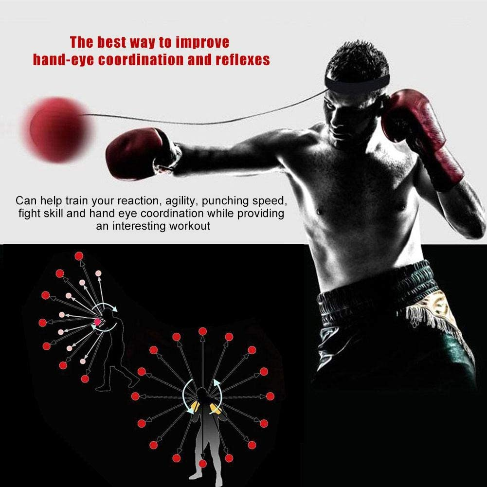EBTOOLS Boxing Reflex Ball,3Pack Silica Gel Fight Ball for Boxing Training Boxer Speed Punch Ball with Head Band for Fight Skill and Hand Eye Coordination