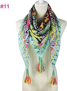 Shop 6 Scarf Shawl, Scarf silkScarf Shawl Summer Spring Print Fashion Fringe Scarf Women,3