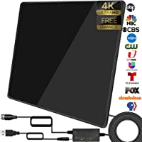 TS-ant TV Antenna- 2021 Upgarded Amplified Indoor Digital Antenna Up to 250 Miles Range Support 4K 1080P & All TV's HDTV…