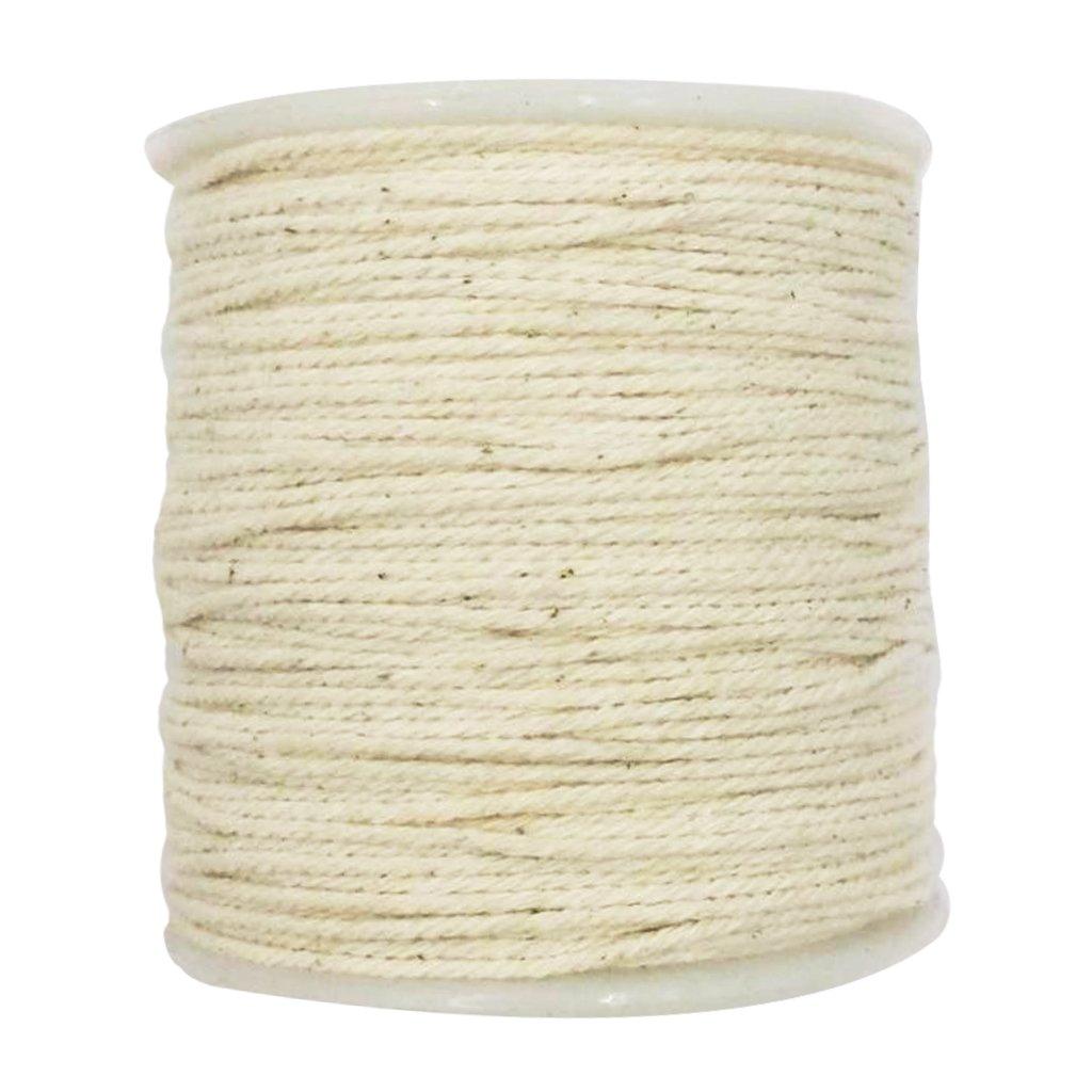 Hellery Corda di Cotone Rustico Corda Intrecciata Cordone Intrecciato Artigianale Bianco Greggio,100 Metri 1 Millimetro
