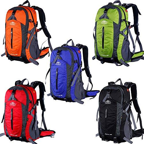 Topsky Outdoor Sport Wandern Klettern Camping Radfahren Rucksack Daypacks Wasserdicht Bergsteigen Laptop-Tasche Unisex 40L 50L Trekking Travel Rucksack mit Regen Cover schwarz schwarz