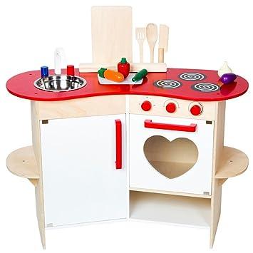 Warenhandel König Kinderküche aus Holz Spielküche Küche Kinder ...