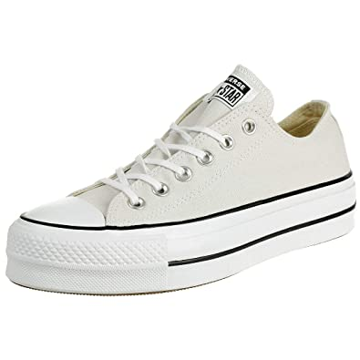 Converse Chuck Taylor All Star Clean Lift OX 565502C Damen Sneaker Pale PuttyWhite Gr. 37 (US 6.5)