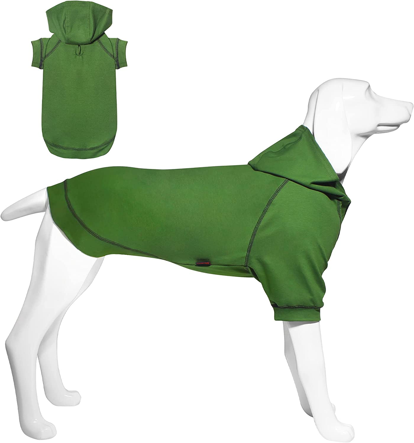 Kickred Basic Dog Hoodie Sweatshirts, Pet Clothes Hoodies Sweater with Hat and Leash Hole, Soft Cotton Outfit Coat for Small Medium Large Dogs