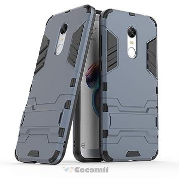 Cocomii Iron Man Armor Xiaomi Redmi Note 5/Redmi 5 Plus Funda [Robusto] Táctico Sujeción Soporte Antichoque Caja [Militar Defensor] Cuerpo Completo ...
