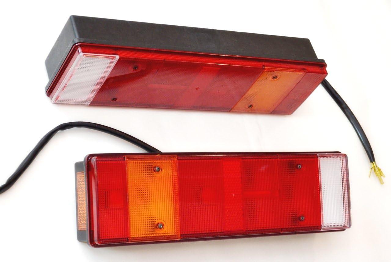 2/x Ch/âssis Arri/ère LED 12/V 24/V pour camion remorque Caravane Van 470/mm Ampoules operarting
