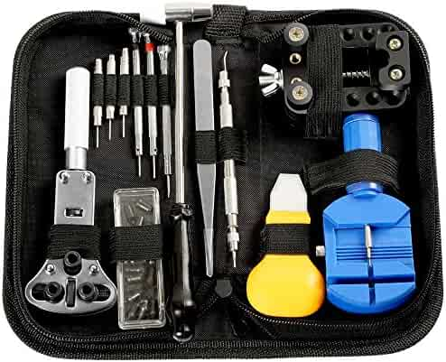Electop Watch Repair Tool Kit Professional Watch Band Link Pin Tool Set Spring Bar Tool Set Watch Battery Replacement Tools