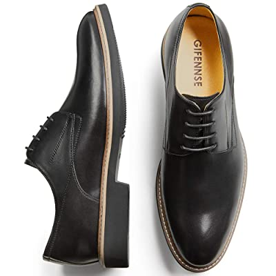 GIFENNSE Men's Casual Dress Shoes Leather Oxford Shoe | Oxfords