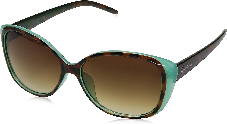 Jessica Simpson Women's J5012 Glamorous Cat-Eye Sunglasses with 100% UV Protection, 55 mm