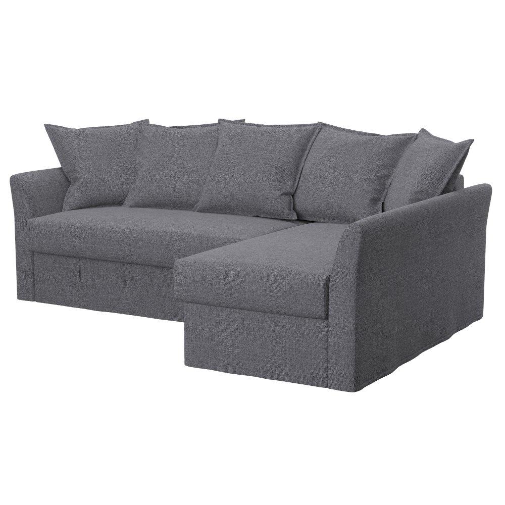 Soferia Replacement Cover for IKEA HOLMSUND Corner Sofa, Fabric Elegance  Brown