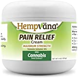 Hempvana Pain Relief Cream with Cannabis Seed Extract - Relieves Inflammation, Muscle, Joint, Back, Knee, Nerves and Arthritis Pain – Made in USA 4oz Paraben Free, Vegan, Cruelty-Free As Seen On TV